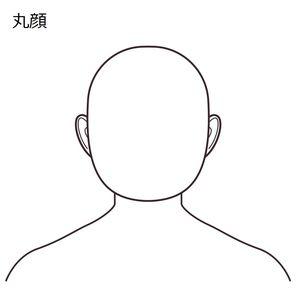 「丸顔」のネックライン補正法