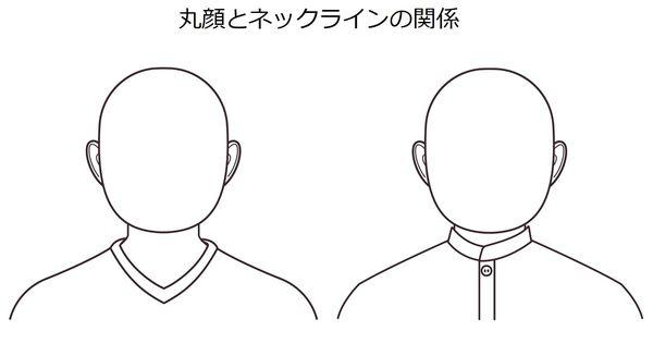丸顔とネックラインの関係