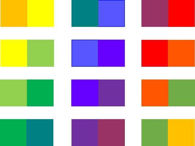図② 隣接色相配色